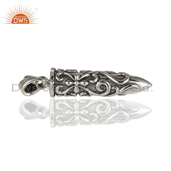 Suppliers Designer 925 Sterling Silver Oxidized Handcrafted Pendant Wholesale