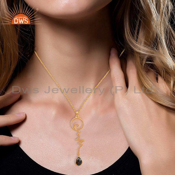 Suppliers Hematite Heartbeat Gold Plated Designer Silver Wholesale Pendent