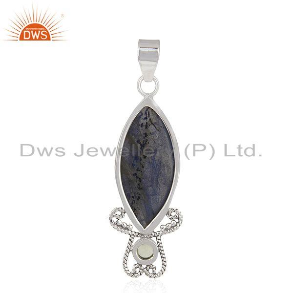Suppliers Natural Labradorite Gemstone Sterling Silver Artisan Pendant Manufacturer India