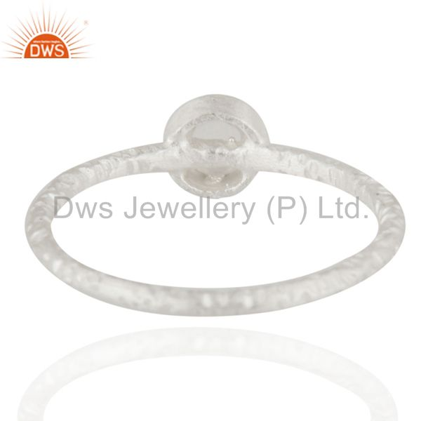 Suppliers 925 Sterling Silver Handmade Little Design Crystal Quartz Stacking Ring Jewelry