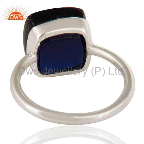 Suppliers 925 Sterling Silver Sapphire Blue Corundum Stacking Ring Size 5
