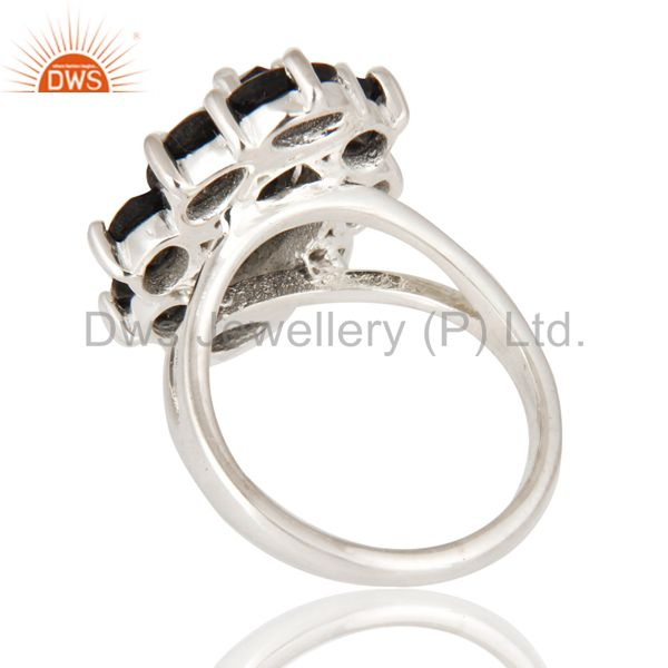 Suppliers Solid 925 Sterling Silver Black Onyx Designer Ring - Fine Gemstone Jewelry