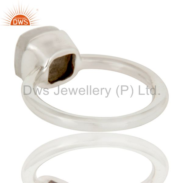 Suppliers Handmade 925 Sterling Silver White Agate Gemstone Stackable Ring
