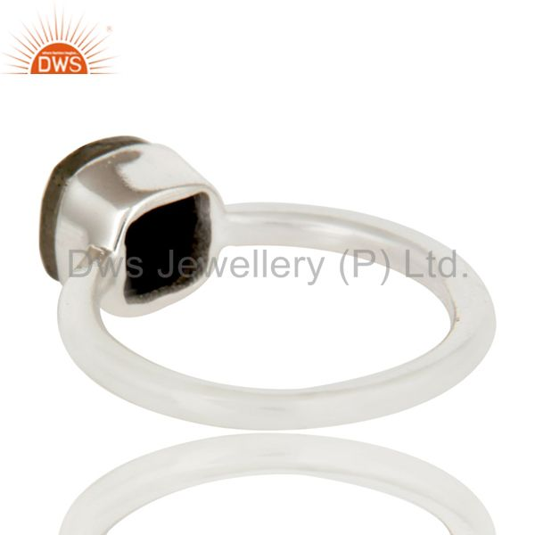 Suppliers Handmade 925 Solid Sterling Silver Golden Rose Cut Pyrite Stackable Ring