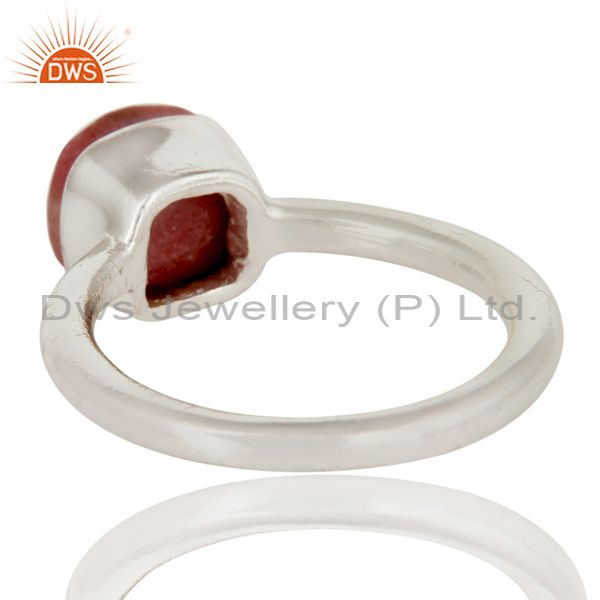 Suppliers Handmade 925 Solid Sterling Silver Rhodonite Gemstone Stackable Ring