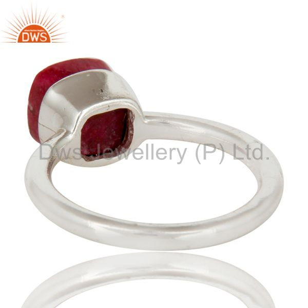 Suppliers 925 Solid Sterling Silver Natural Ruby Gemstone Stackable Ring