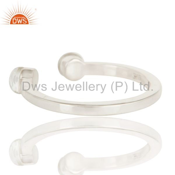 Suppliers Handmade Solid Sterling Silver Crystal Quartz Openable Stackable Ring Jewelry
