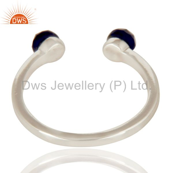 Suppliers Handmade Solid 925 Sterling Silver Lapis Openable Stackable Ring Jewelry