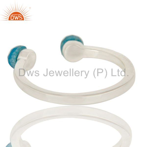 Suppliers Beautiful Turquoise and Sterling Silver Open Stackable Ring