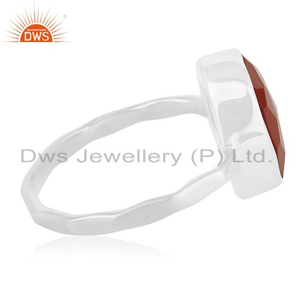 Suppliers New Fine Sterling 92.5 Silver Chalcedony Gemstone Handmade Ring Manufacturer