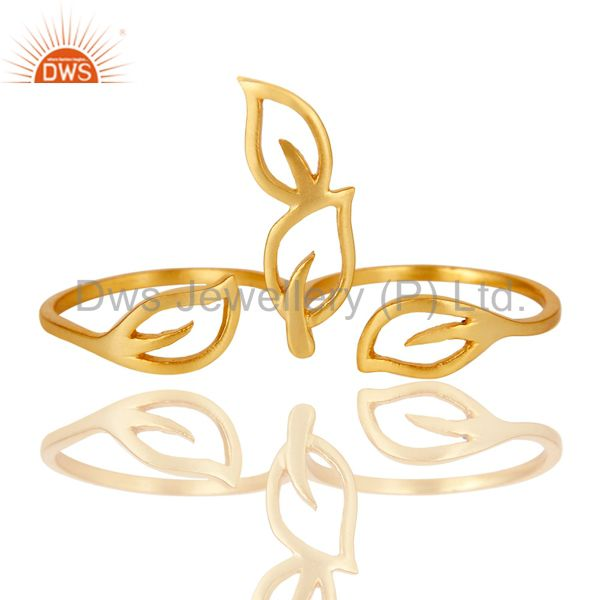 Suppliers Traditional Handmade Art Deco 18K Yellow Gold Plated Brass Ring Jewellery