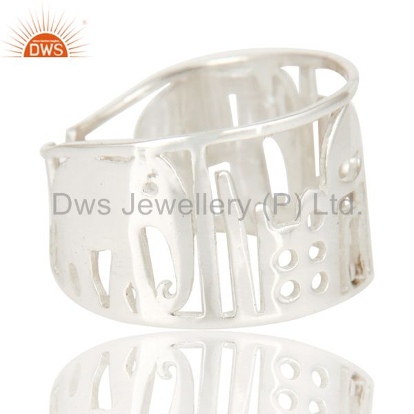 Suppliers Solid 925 Sterling Silver Handmade Art Deco Fahion Ring Jewellery
