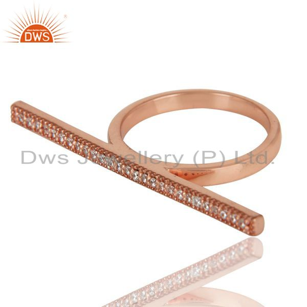 Suppliers 18K Rose Gold Plated 925 Sterling Silver Handmade Art Finishing Knuckle Ring