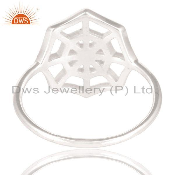 Suppliers Solid 925 Sterling Silver Handmade Spider Web Design Cocktail Ring