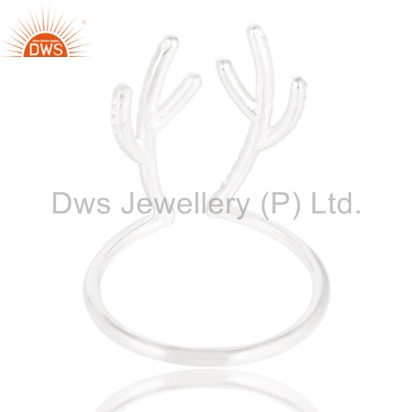 Suppliers Solid 925 Sterling Silver Handmade Art Tree Design Knuckle Ring Jewelry