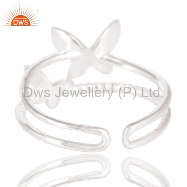 Suppliers Solid 925 Sterling Silver Handmade Art Butterfly Design Stackable Ring