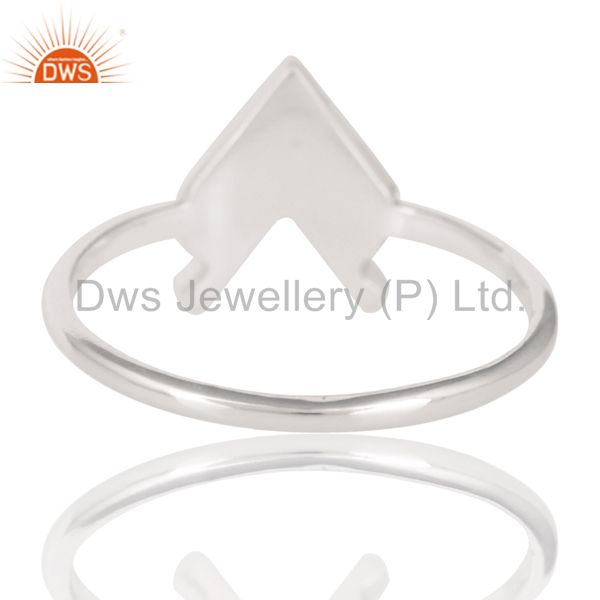 Suppliers Solid 925 Sterling Silver Handmade Art Arrow Design Stackable Ring