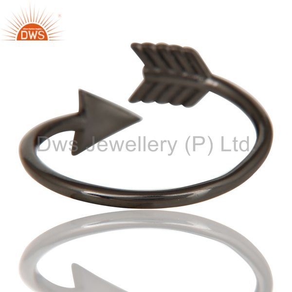 Suppliers Black Oxidized 925 Sterling Silver Handmade New Fashion Design Stackable Ring