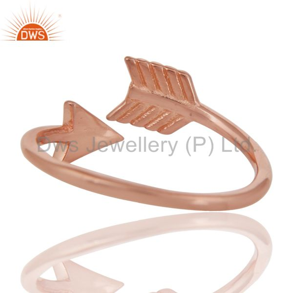 Suppliers 14K Rose Gold Plated 925 Sterling Silver Handmade New Fashion Design Ring