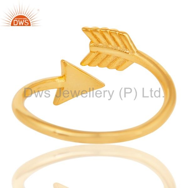 Suppliers 14K Yellow Gold Plated 925 Sterling Silver Handmade New Fashion Design Ring