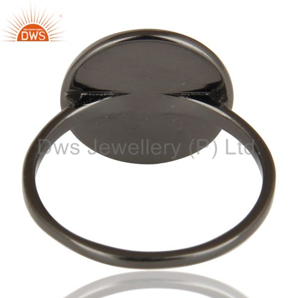 Suppliers Black Oxidized 925 Sterling Silver Handmade Astrology Design Cocktail Ring