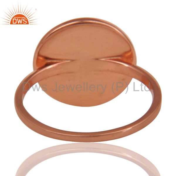 Suppliers 14K Rose Gold Plated Sterling Silver Handmade Astrology Design Cocktail Ring