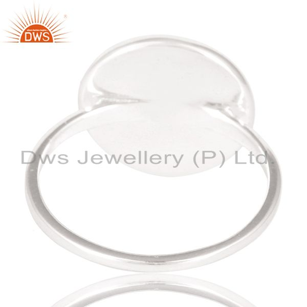 Suppliers Solid 925 Sterling Silver Handmade Art Astrology Design Cocktail Ring
