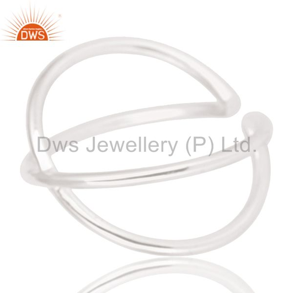 Suppliers Solid 925 Sterling Silver Handmade Infinity Stylish Stackable Ring