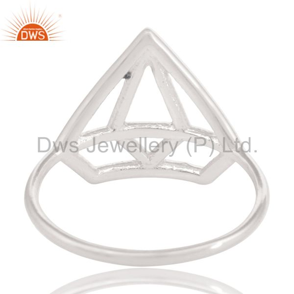 Suppliers Solid 925 Sterling Silver Handmade Without Stone Style Stackable Ring