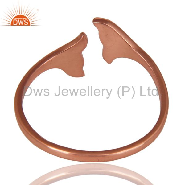 Suppliers 14K Rose Gold Plated Sterling Silver Handmade Beautiful Fashion Stackable Ring