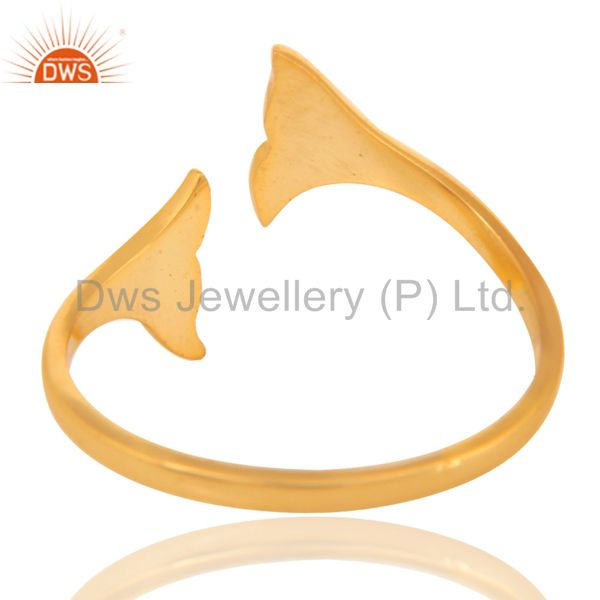 Suppliers 14K Yellow Gold Plated Sterling Silver Handmade Beautiful Fashion Stackable Ring