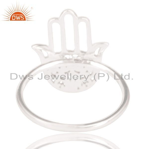 Suppliers Solid 925 Sterling Silver Handmade Art Hand Design Cocktail Ring