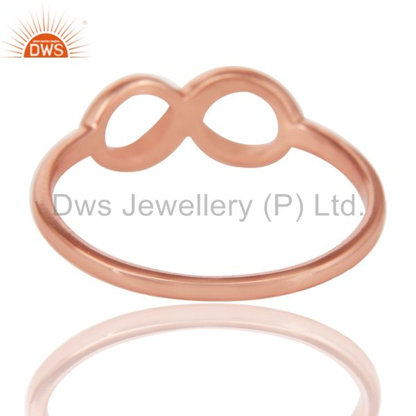 Suppliers 14K Rose Gold Plated Sterling Silver Handmade Without Stone Infinity Toe Ring