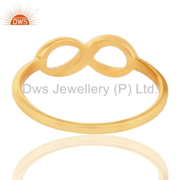 Suppliers 14K Yellow Gold Plated Sterling Silver Handmade Without Stone Infinity Toe Ring