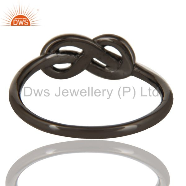 Suppliers Black Oxidized 925 Sterling Silver Handmade Without Stone Beautiful Fashion Ring