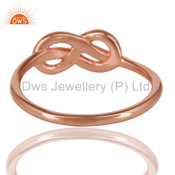 Suppliers 14K Rose Gold Plated 925 Sterling Silver Without Stone Beautiful Fashion Ring