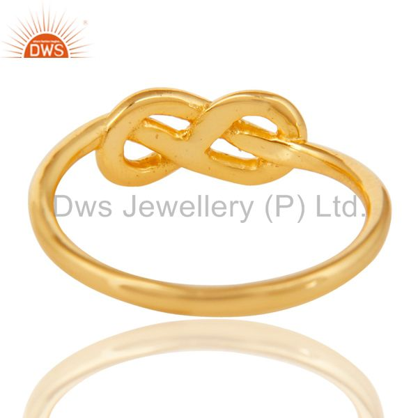 Suppliers 14K Yellow Gold Plated 925 Sterling Silver Without Stone Beautiful Fashion Ring