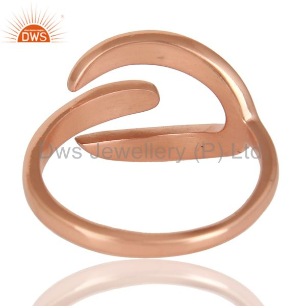 Suppliers Beautiful Unique Design Ring With 14K Rose Gold Plated 925 Sterling Silver