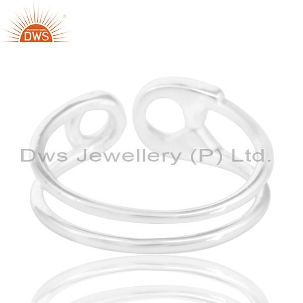 Suppliers Solid 925 Sterling Silver Handmade Without Stone Stackable Ring Jewelry