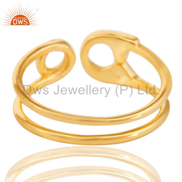 Suppliers 14K Gold Plated 925 Sterling Silver Handmade Without Stone Stackable Ring