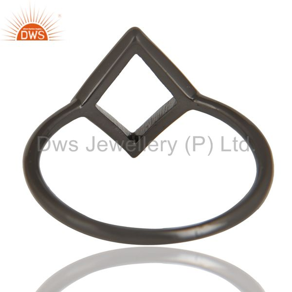 Suppliers Black Oxidized 925 Sterling Silver Handmade Art Without Stone Fashion Ring