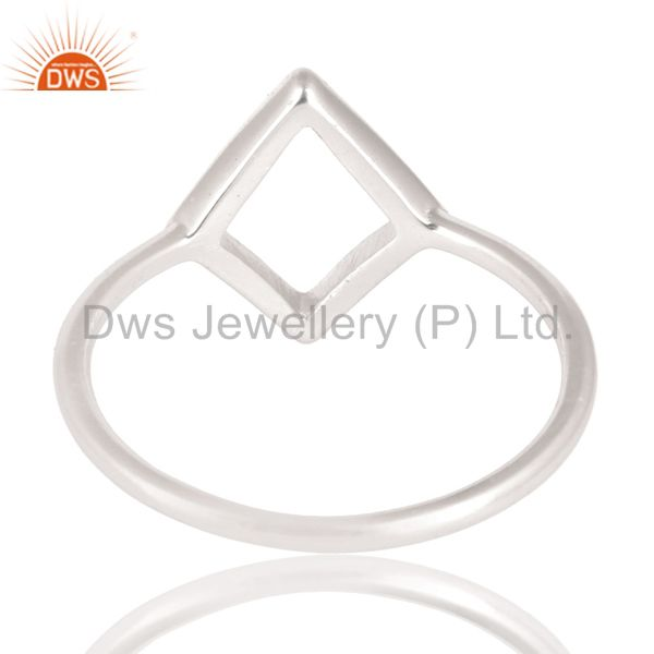 Suppliers Solid 925 Sterling Silver Handmade Art Without Stone Fashion Ring