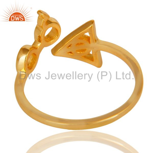 Suppliers 14K Yellow Gold Plated 925 Sterling Silver Handmade Without Stone Stackable Ring