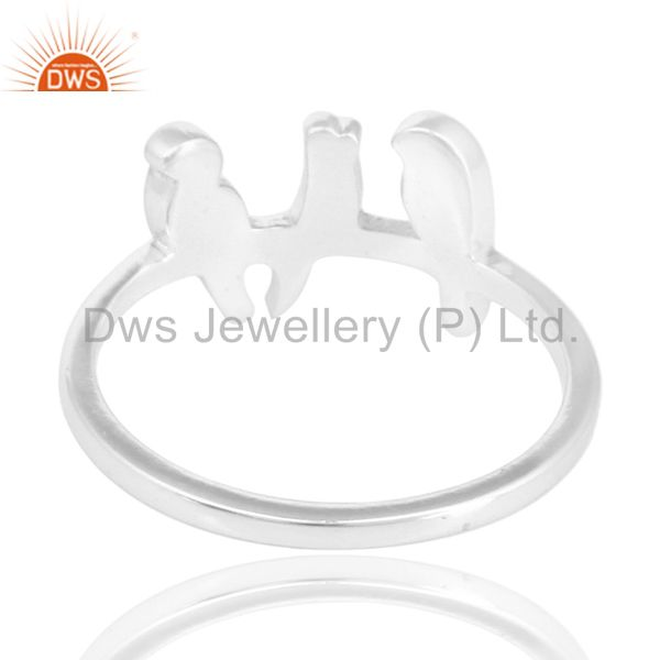 Suppliers Solid 925 Sterling Silver Handmade Art Deco Birds Design Stackable Ring