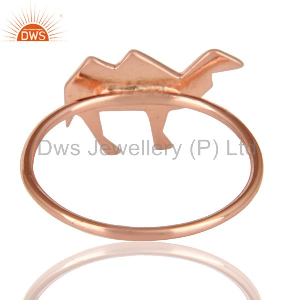 Suppliers 14K Rose Gold Plated 925 Sterling Silver Handmade Camel Design Stackable Ring