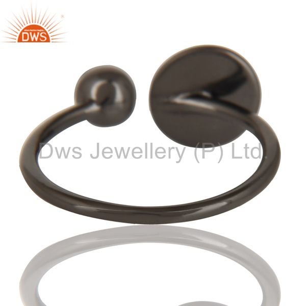 Suppliers Black Oxidized 925 Sterling Silver Handmade Art Classic Style Stackable Ring