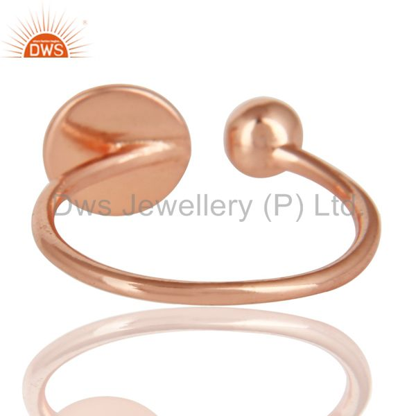 Suppliers 14K Rose Gold Plated Sterling Silver Handmade Art Classic Style Stackable Ring