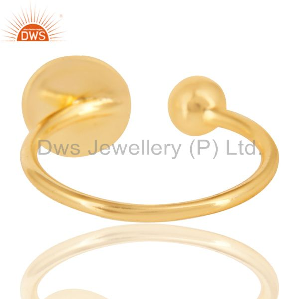 Suppliers 14K Gold Plated 925 Sterling Silver Handmade Art Classic Style Stackable Ring