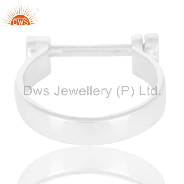 Suppliers Beautiful Solid 925 Sterling Silver Handmade Lock Style Openable Ring Jewelry