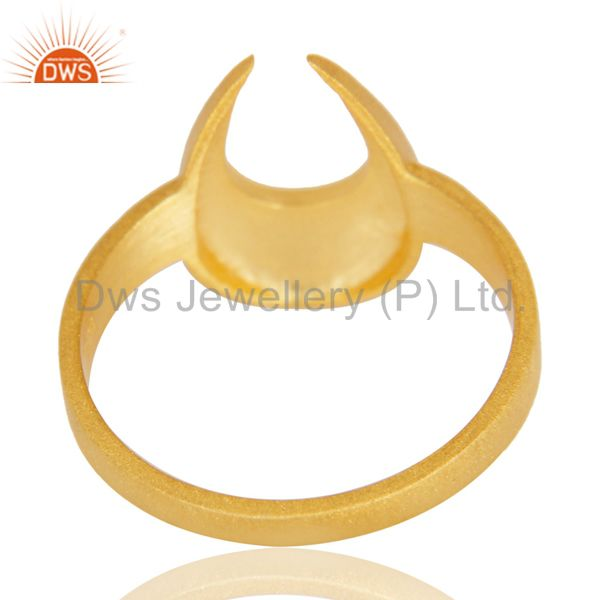 Suppliers 14K Yellow Gold Plated 925 Sterling Silver Handmade Horse Shoe U Design Ring
